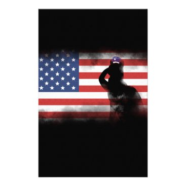 USA Themed Honor Our Heroes On Memorial Day Stationery