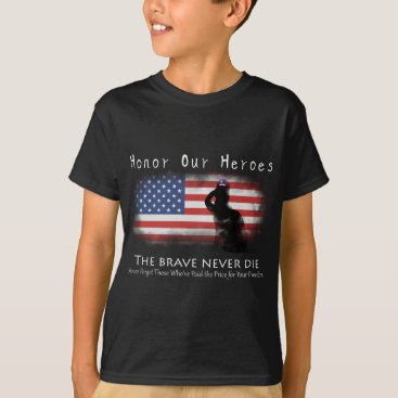 USA Themed Honor Our Heroes On Memorial Day T-Shirt