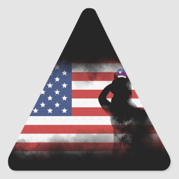 USA Themed Honor Our Heroes On Memorial Day Triangle Sticker