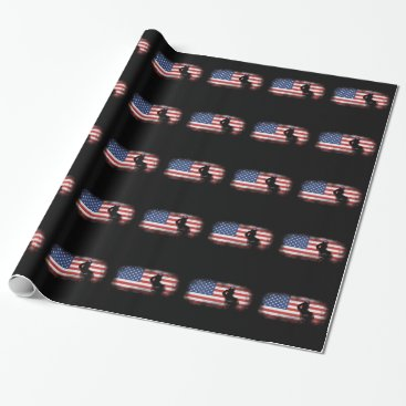 USA Themed Honor Our Heroes On Memorial Day Wrapping Paper