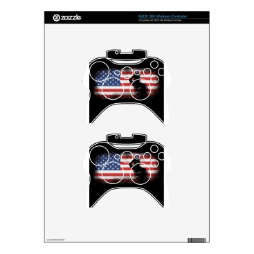 USA Themed Honor Our Heroes On Memorial Day Xbox 360 Controller Decal