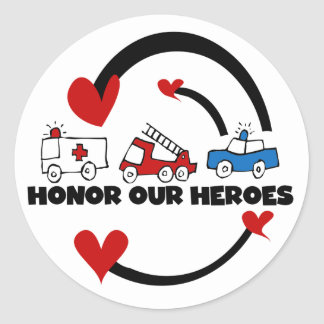 Honor Our Heroes Tshirts and Gifts Classic Round Sticker