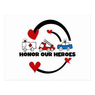 Honor Our Heroes Tshirts and Gifts Postcard
