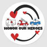 Honor Our Heroes Tshirts and Gifts Round Sticker
