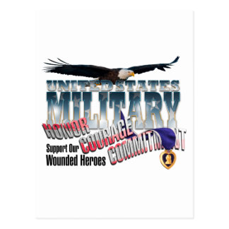 Honor our Military Heroes Postcards