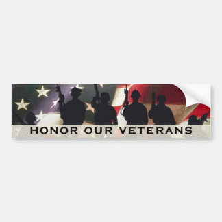 Honor Our Military Veterans Car Bumper Sticker