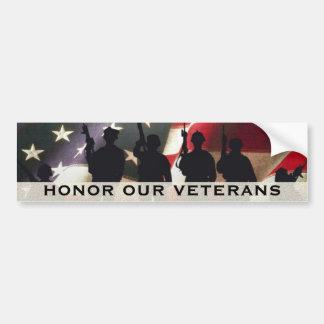 Honor Our Military Veterans Bumper Sticker