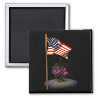 Honor Our Soldiers 2 Inch Square Magnet