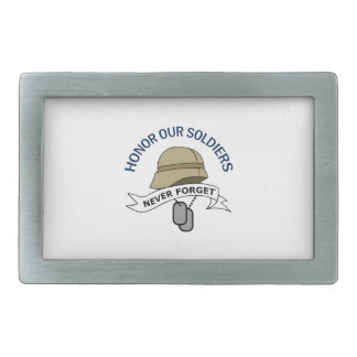 HONOR OUR SOLDIERS BELT BUCKLE