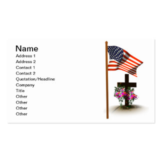 Honor Our Soldiers Double-Sided Standard Business Cards (Pack Of 100)