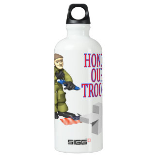Honor Our Troops Aluminum Water Bottle