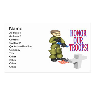 Honor Our Troops Double-Sided Standard Business Cards (Pack Of 100)