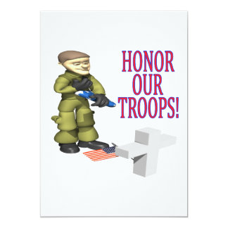 Honor Our Troops Card