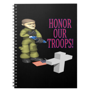 Honor Our Troops Spiral Note Book