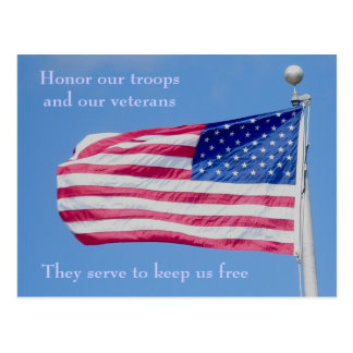 Honor our Troops Postcard