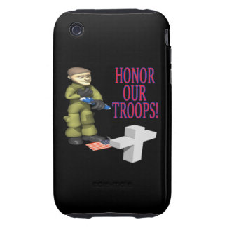 Honor Our Troops Tough iPhone 3 Case