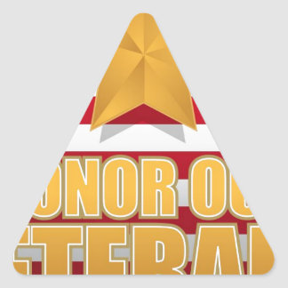 HONOR OUR VETERANS TRIANGLE STICKER