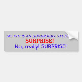 Honor Roll Bumper Sticker