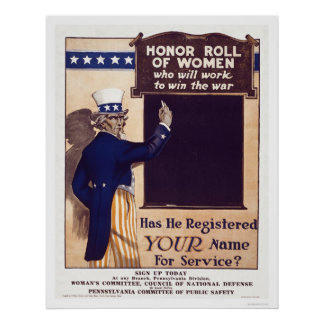 Honor Roll of Women Posters