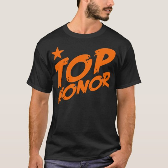 Honor Star BLK/ORG T-Shirt