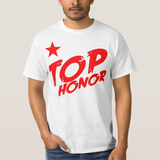 Honor Star WHT/RED T-Shirt
