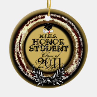 Honor Student Award Class Of 2011 Ornament Gold