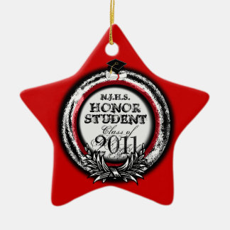 Honor Student Award Class Of 2011 Ornament Red