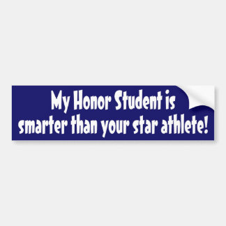 Honor Student Car Bumper Sticker