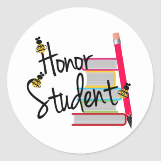 Honor Student Classic Round Sticker