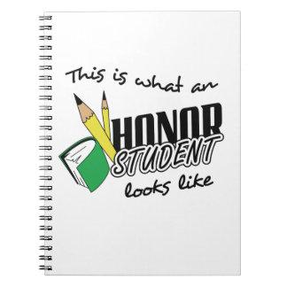 HONOR STUDENT LOOKS LIKE NOTEBOOK