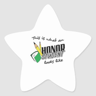 HONOR STUDENT LOOKS LIKE STAR STICKER