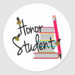 Honor Student Round Stickers