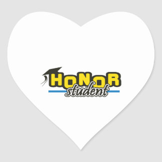 HONOR STUDENT HEART STICKER