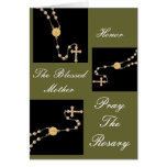 HONOR THE BLESSED MOTHER PRAY THE ROSARY GREETING CARD