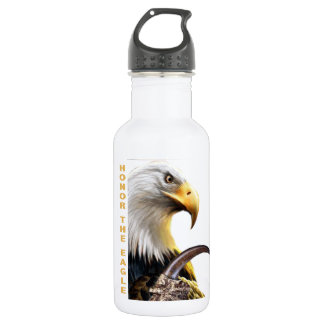 Honor The Eagle Claw and apparel Water Bottle