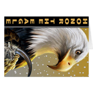 Honor The Eagle Claw gifts and apparel Greeting Card