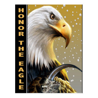 Honor The Eagle Claw gifts and apparel Postcard