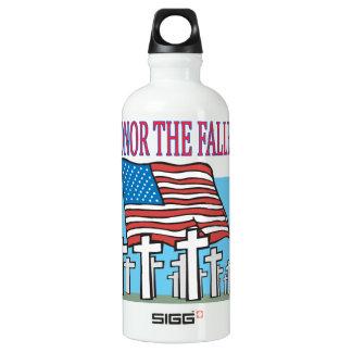 Honor The Fallen Aluminum Water Bottle