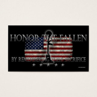 Honor The Fallen Business Card