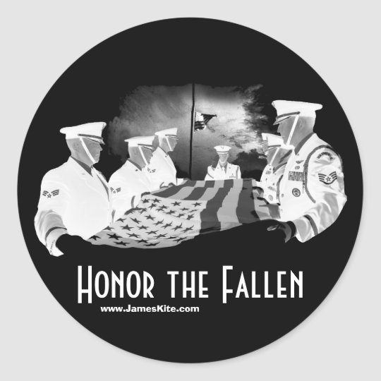Honor the Fallen Classic Round Sticker