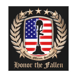 Honor The Fallen - Crest Gallery Wrapped Canvas