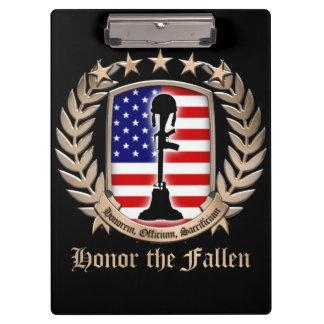 Honor The Fallen - Crest Clipboards
