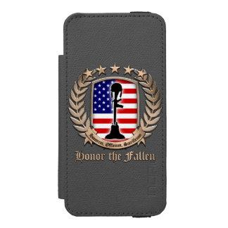 Honor The Fallen – Crest iPhone SE/5/5s Wallet Case