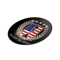 Honor The Fallen - Crest Porcelain Plate