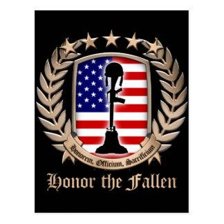 Honor The Fallen - Crest Postcard