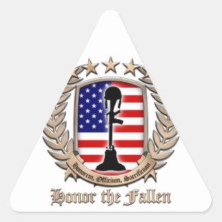 Honor The Fallen - Crest Triangle Sticker