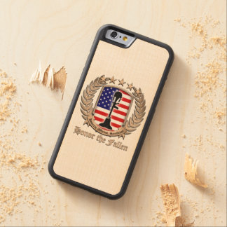 Honor The Fallen - Crest Carved® Maple iPhone 6 Bumper