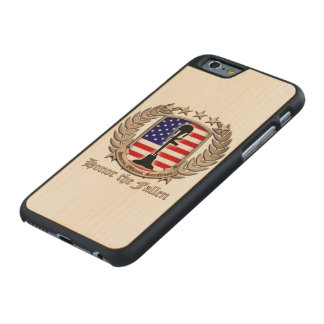Honor The Fallen - Crest Carved® Maple iPhone 6 Slim Case