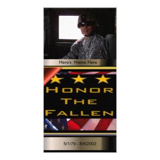 Honor the Fallen Custom Military Tribute Card