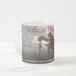 Honor The Fallen Frosted Glass Coffee Mug